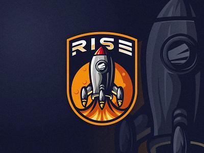 LANDING freefire pubg game illustration artwork design vector esports esport logo flight fire moon landing rocket space