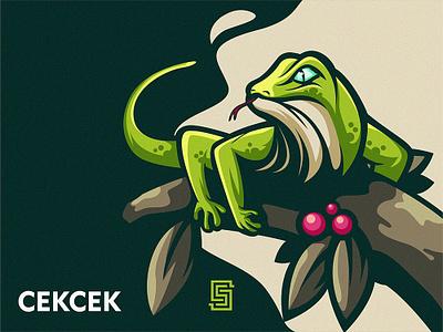 LIZARD cartoon lizard illustration mascot esports ai esport vector branding design artwork brandidentity logo