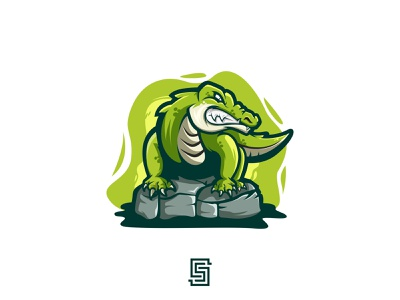 Alligator Logo predator mugger crocodile illustraion lizard serpent cartoon artwork graphicdesign illustration mascot esports esport vector branding design alligator logo