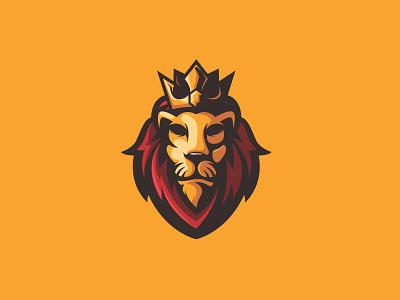 The Lion King lion king lion logo lion head king lion cartoon graphicdesign mascot branding esports esport vector brandidentity design logo