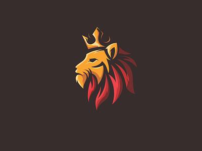 King II illustration esports mascot esport vector artwork brandidentity design logo lion king