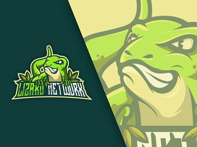 LIZARD ESPORTS LOGO FOR LIZARD NETWORK design x8 2020 2019 draw corel green art speed amazing adobe illustratir vector cartoon esports sport esport logo lizard tutorial