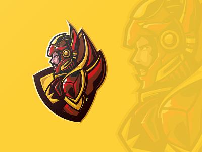 IRON JAVA gatot kaca illustration mascot branding esports esport vector brandidentity design logo iron man ironman