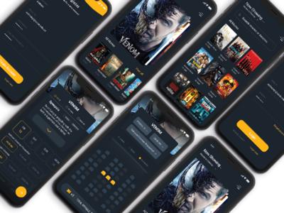 Movie ticket buying app design | Ui/Ux design buy ticket movie cinema ux design ui app