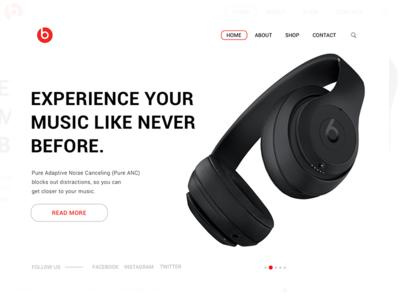 Landing Page beats dailyui 003 dailyui headphones ux ui design