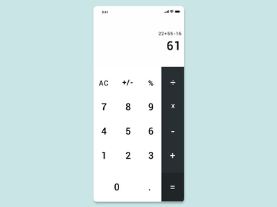 Calculator dailyui daily calculator app design iphone app ux ui design