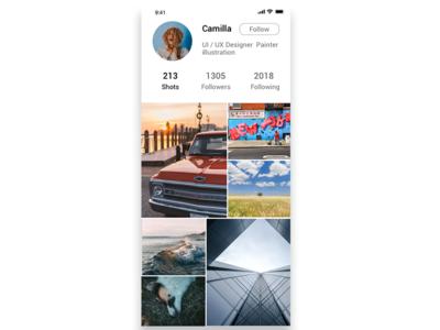 User profile dailyui app design iphone app ux ui design