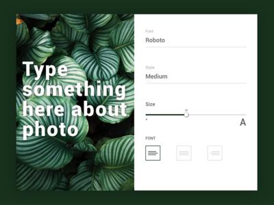 Settings typography web dailyui ux ui design