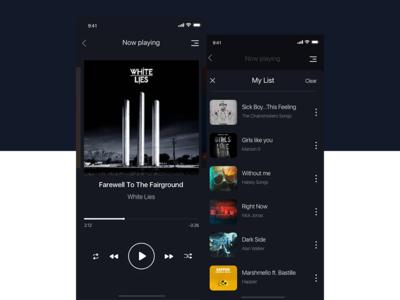 Music Player player music app music app design iphone dailyui app ux ui design