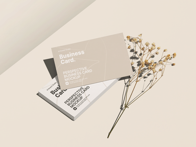 Perspective Business Cards Mockup Template branding design identity busniesscard brand identity minimal mockup templates mockup template business card mockup business cards business logo print brand presentation branding design artboard studio mockup