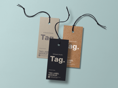 Tag Label Mockup Template paper luggage tag tag design price apparel template tag mockup label tag mockup tag label logo print brand presentation packaging branding design artboard studio mockup