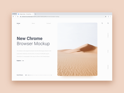New Chrome Browser Mockup FREE artboard studio artboard showcase uidesign ui free mockup free mock-up mockup chrome browser