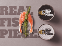Seafood related package mockup scene