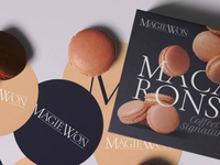 Packaging Mockup Template For Macarons