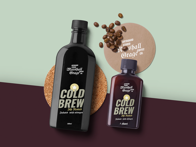 Cold Brew Bottle Package Mockup Scene