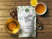 Tea Package Mockup Scene