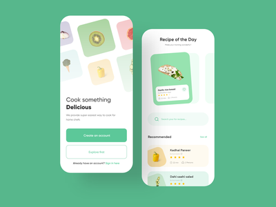 Recipe App UIUX Design food and drink food app recipe recipe app app design uiuxdesign uiux clean minimal ui ux app uidesign appinterferance