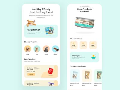 Pet Food Shopping App dog food uiux design uiux product design pet food shopping pet food shopping app minimal ux design app uidesign ui appinterferance