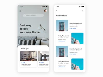 Apartment Finder App UI