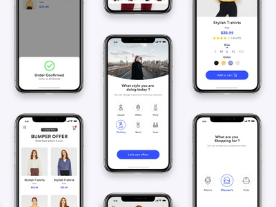 Shopping App UI ux clean mobile uidesign flat web typography branding minimal ios ui app design appinterferance