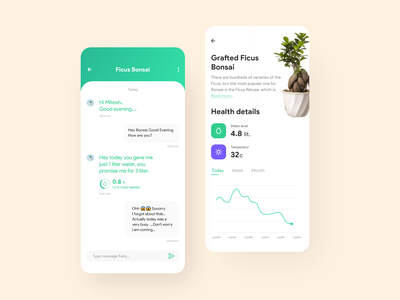 Plant Water Tracking App typography vector clean mobile ios minimal ux ui uidesign app design appinterferance