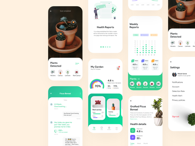 Plant Water Tracking App vector ux uidesign ios mobile flat clean typography minimal ui app design appinterferance