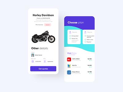 Vehicle Insurance App UIUX clean mobile minimal ios ux design app ui uidesign appinterferance