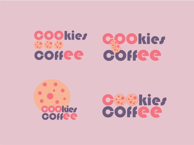 Cookies & Coffee coffee shop restaurant logo minimal design typography logo illustrator graphic design