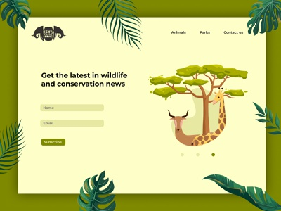 KWS sign up UI art vector kenya ui designer wildlife web ui design website design ui design illustrator illustration graphic design