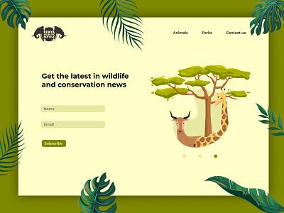 KWS sign up UI art vector kenya ui designer wildlife web ui design website design ui design illustrator illustration graphic design