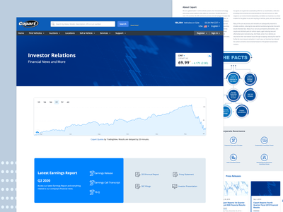 Investor Relations Landing Page landingpage website webdesign web news user interface ui user experience userinterface ux tech landing page finances finance investment stock investor investor relations