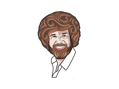 Bob Ross face character design character procreate hand drawn bob ross illustration