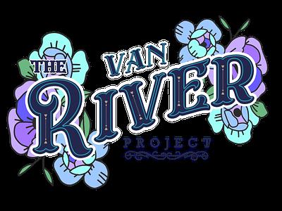 The Van River Project floral design brand graphic design branding vintage western lettering typography van van river