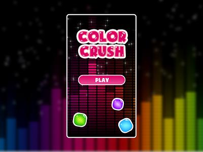 Color Crush Game Start Menu Screen mobile ui mobile app game art game design start menu menu user experience userinterface magenta colorful rainbow splashscreen game ui color crush mobile game mobile design game