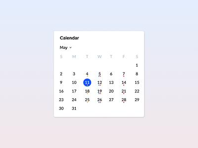 Calendar Widget app mobile material uiux calendar ui widget calendar