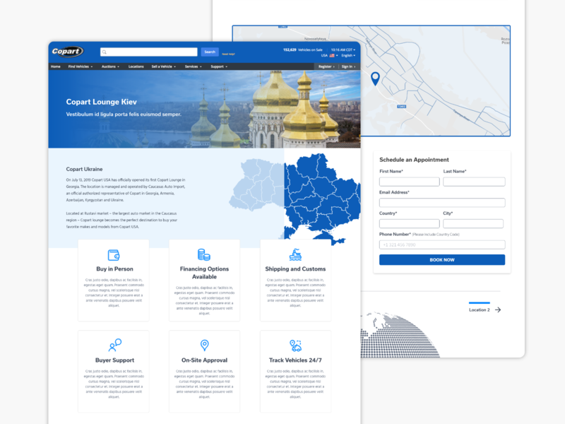 Location Page Concept locations landing page concept landing page design location uxui ux landing page ui landing page landingpage