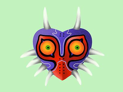 Majora's Mask warm up design character procreate gal shir illustration majora majoras mask legend of zelda