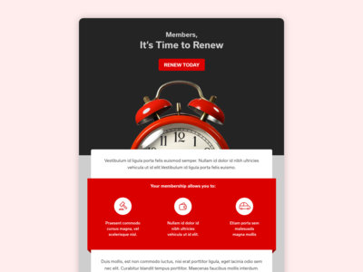 Dark Mode Renewal Email Layout
