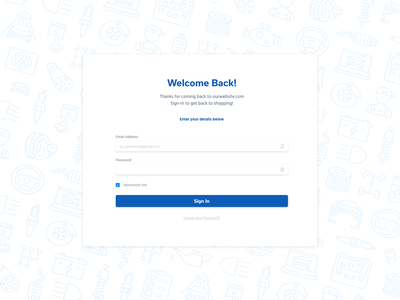 Patterned Sign In Page / Log in mobile design modal userinterface user experience ux ui landing page website design landingpage login log in signin sign in pattern