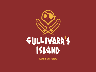 Gullivar's Island pirate pirate island pirate logo concept amusement park animal crossing typography identity brand logo branding