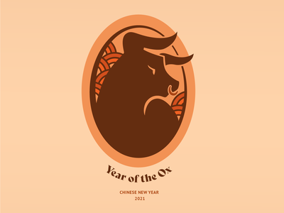 Year of the Ox bsds thunderdome chinese culture ox chinese zodiac chinese new year year of the ox illustration identity brand design logo branding