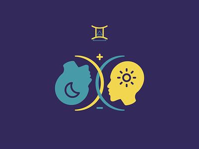 Gemini zodiac icons yin and yang twins gemini logo zodiac sign gemini horoscope tarot zodiac