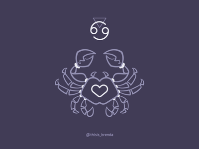 Cancer logo minimalist zodiac crab cancer sign cancer horoscope cancer logo spirituality horoscope tarot zodiac