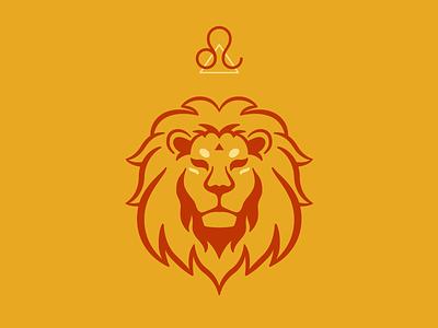Leo zodiac illustration vector lion symbol tarot tarot icon spirituality fiery lion lion logo lion icon leo icon leo horoscope horoscope minimalist zodiac logo