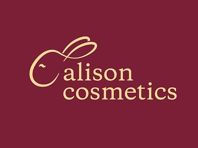 Alison Cosmetics cosmetic makeup vector identity logocore logo design branding