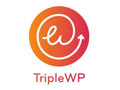 Triple WP circle logo triple wordpress triple wp wordpress brand logocore identity logo design branding
