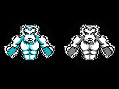 Client: Evolve Performance LLC brand vector illustration animal dog mascot schnauzer krav maga fitness logo identity logo design branding