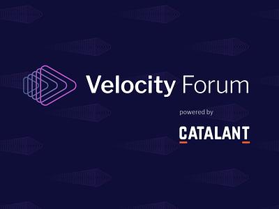 Velocity Forum Logo event branding business agility event design brand identity logo design branding