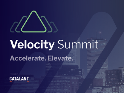 Velocity Summit Branding velocity summit identity design event branding business agility event design brand logo branding