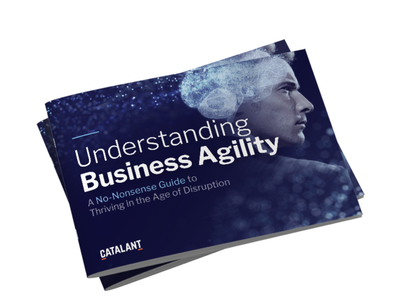 Understanding Business Agility branding photo manipulation digital book booklet guide agility business agility report ebook cover ebook
